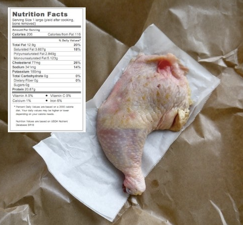 calories in chicken