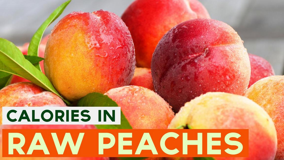 calories in peaches