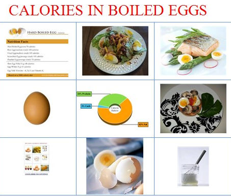 calories in a boiled egg