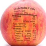 calories in a peach