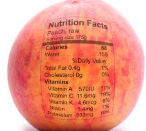calories in a peach