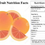 grape fruit nutrition facts