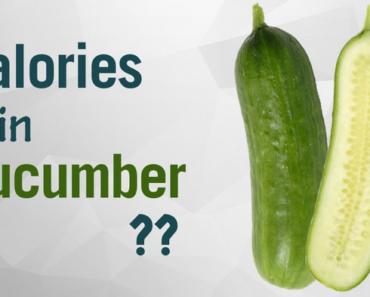 calories in a cucumber