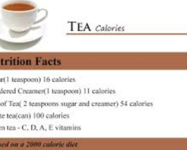 Calories In Green Tea