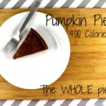 Calories Are In Pumpkin Pie