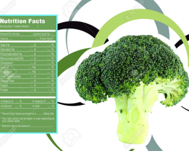 nutrition facts for broccoli