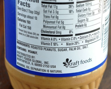 nutrition facts peanut butter