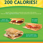 Subway Breakfast Nutrition