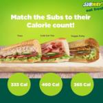 subway calorie counter