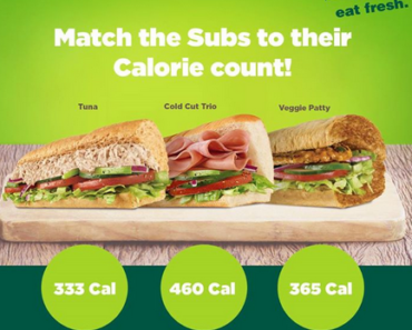 subway calorie counter