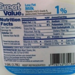 1 Milk Nutrition Facts