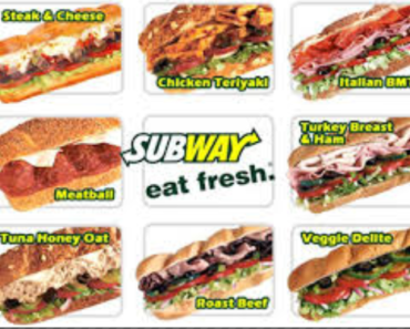 Nutritional Facts Subway