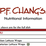 PF Chang's nutrition facts