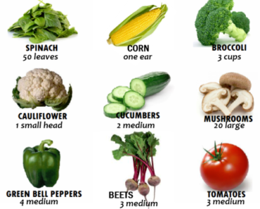 How many calories in vegetables